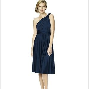 Dessy Collection Twist Wrap Bridesmaid Dress